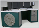 Control Room Desk for OMNI Concentric Arc workstation