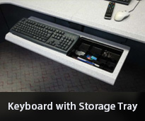 Keyboard Mouse Storage Tray