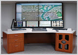 Security Control Room Console